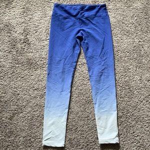 90 Degree Blue Ombré Leggings
